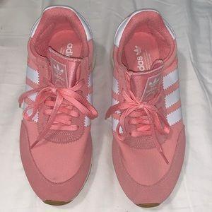 Adidas I-5923 pink/white stripe sneaker US W 9